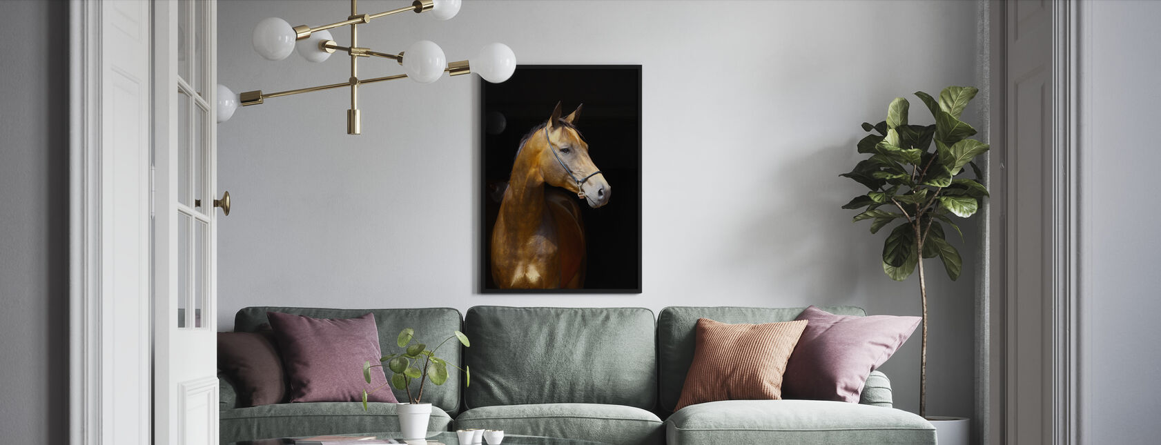 Golden Horse - Framed print - Living Room