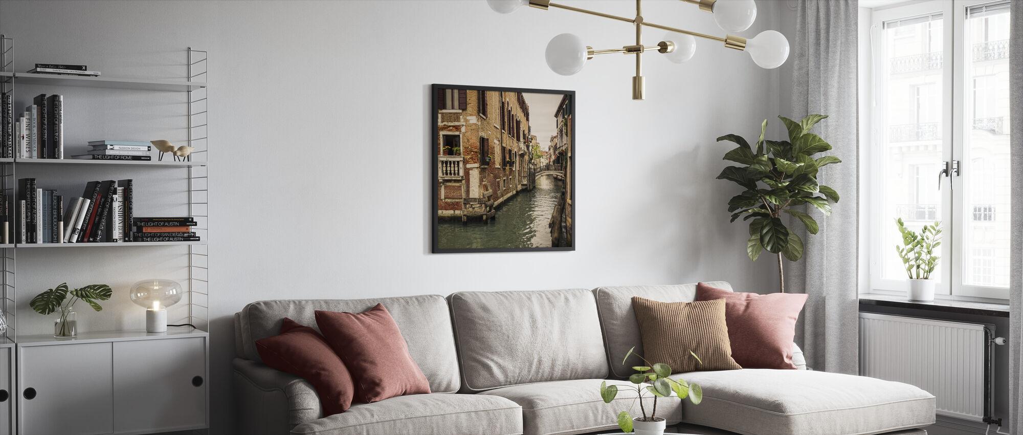 Bricks and Bridges in Venice - Framed print - Living Room