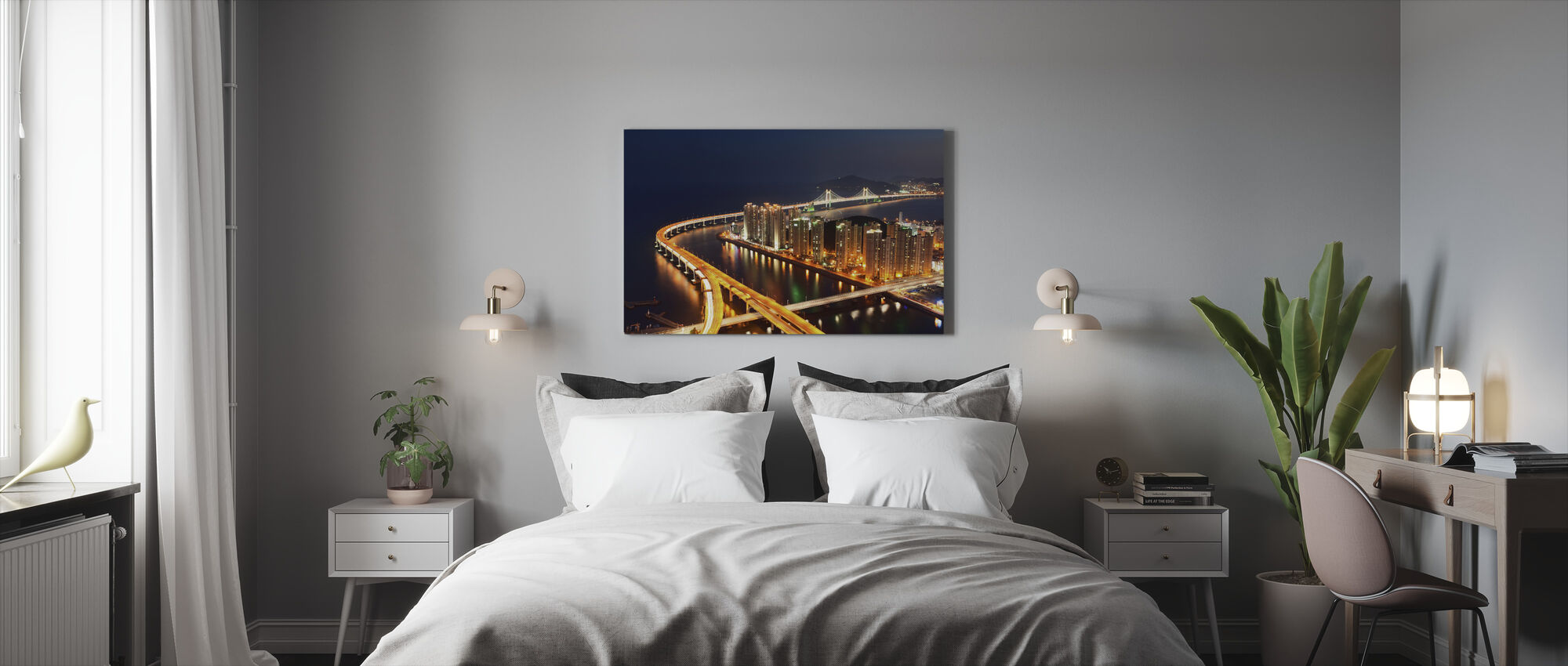 Gwangan Bridge Highway, South Korea - Canvas print - Bedroom