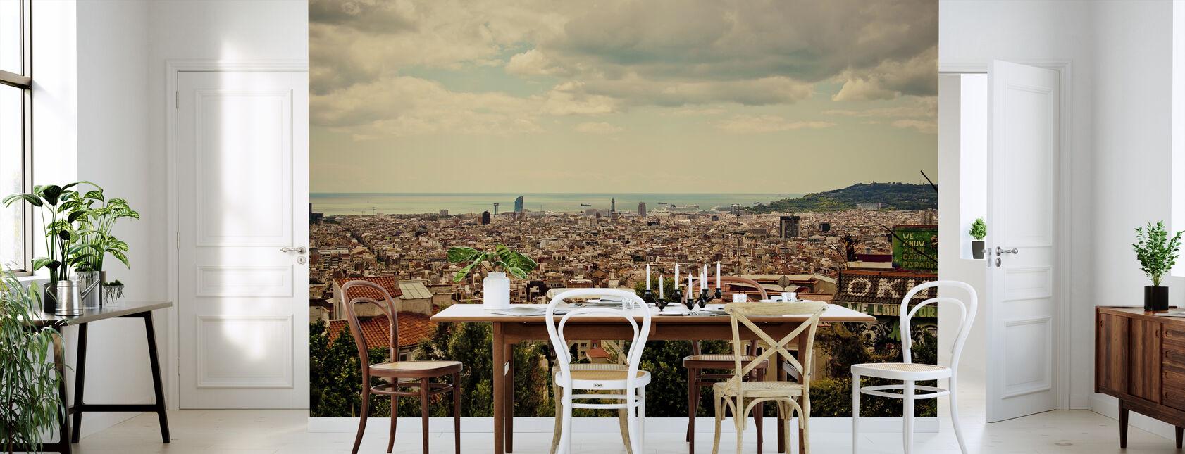 Barcelona i Golden Hour - Tapet - Kjøkken