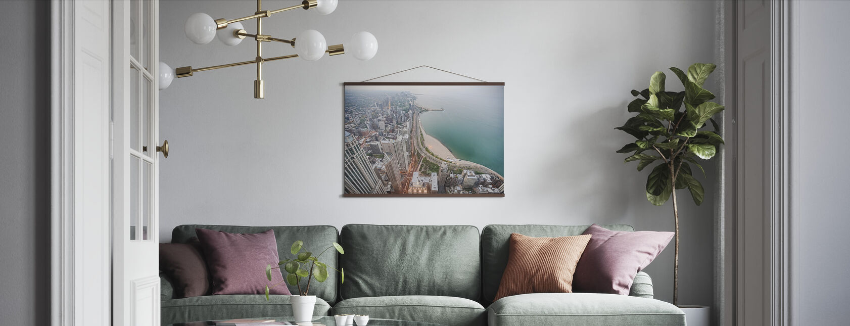View from a Skyscraper in Chicago - Poster - Living Room