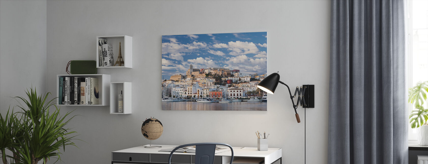 Ibiza Town - Canvas print - Office