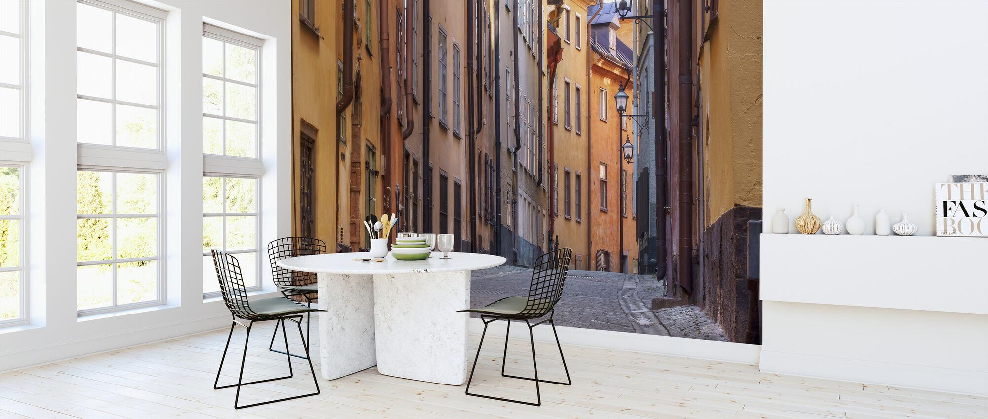 Gata i Stockholm Gamla Stan - Tapet - Kök