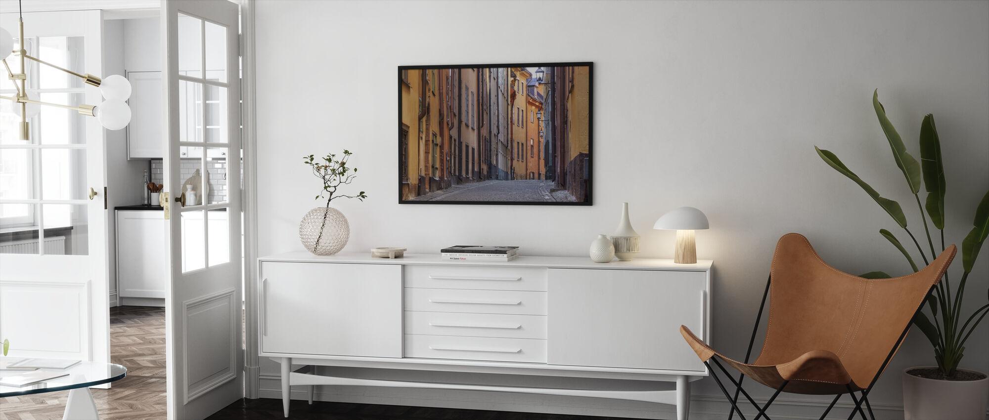 Street in Stockholm Old Town - Framed print - Living Room