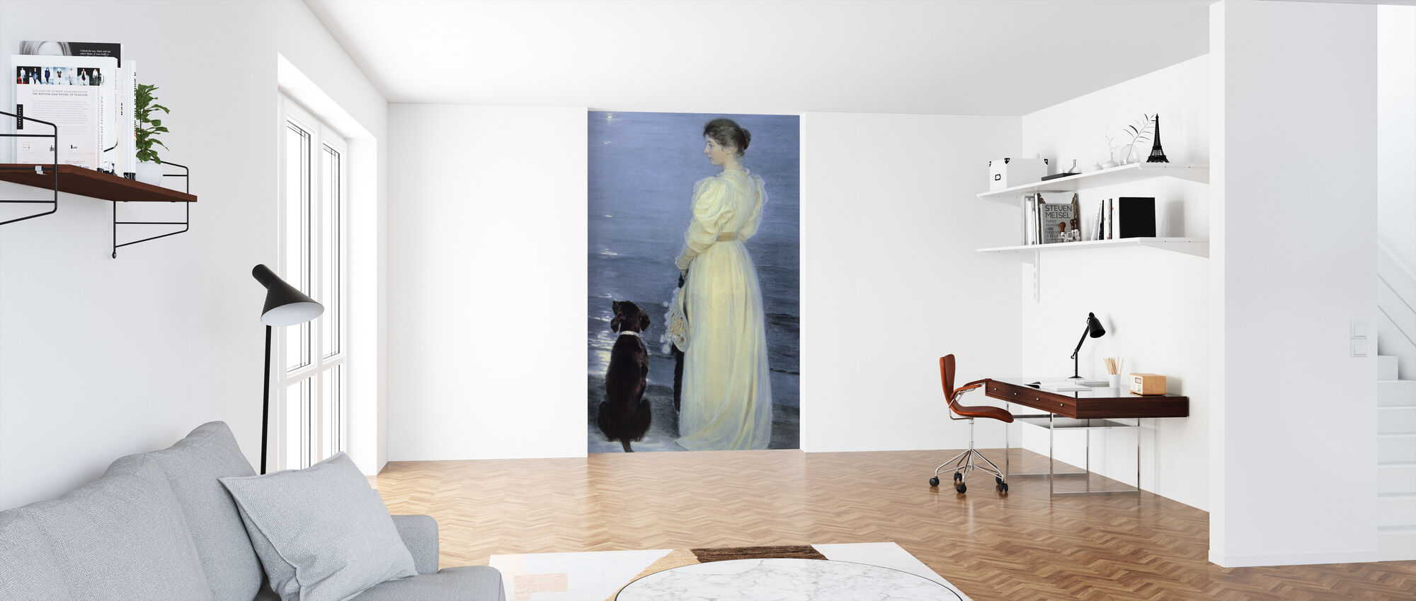 Summer Evening at Skagen - Peder Severin Kroyer, - Wallpaper - Office