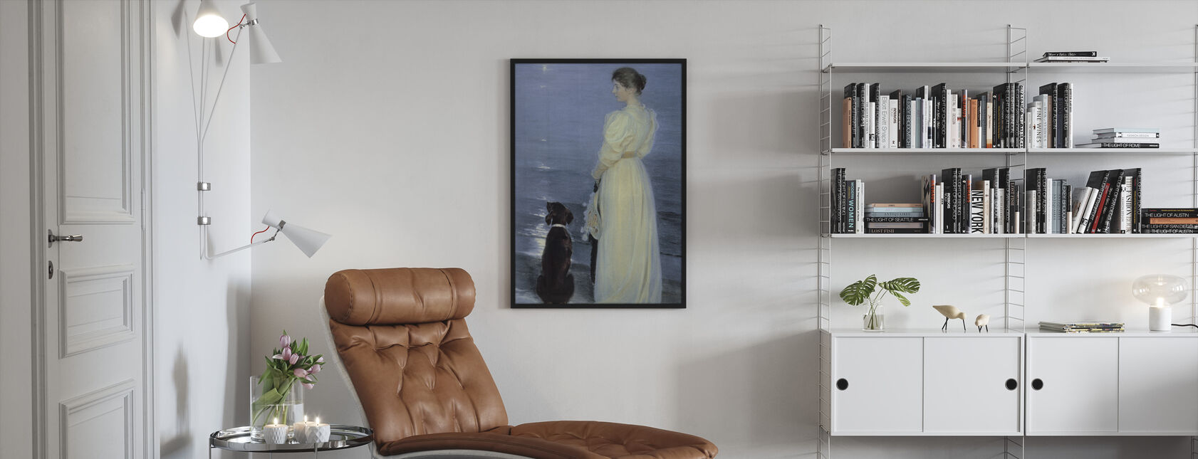 Summer Evening at Skagen - Peder Severin Kroyer, - Framed print - Living Room