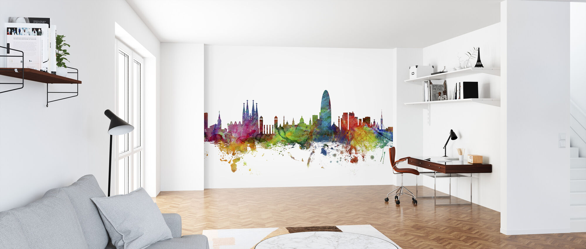 Barcelona Skyline - Wallpaper - Office