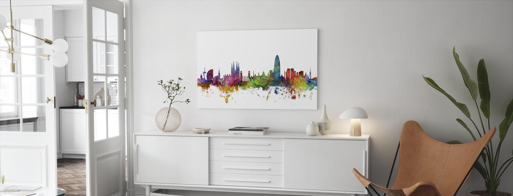 Barcelona Skyline - Lienzo - Salón