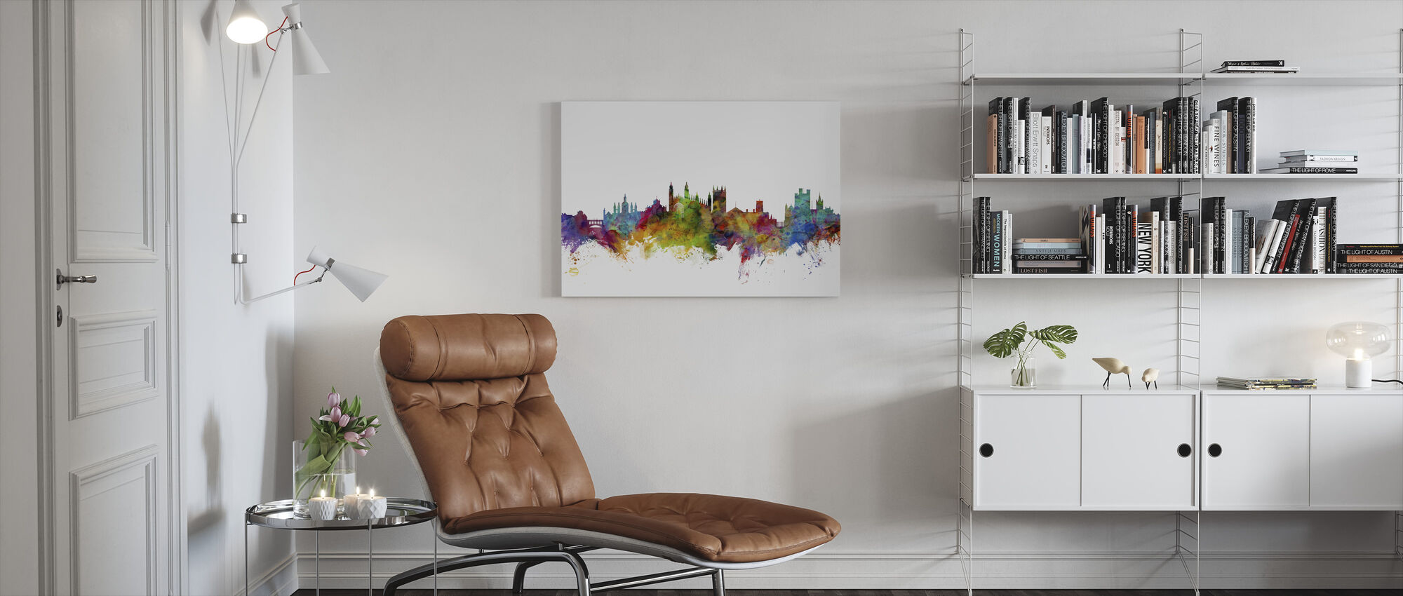 Cambridge Skyline - Canvas print - Living Room