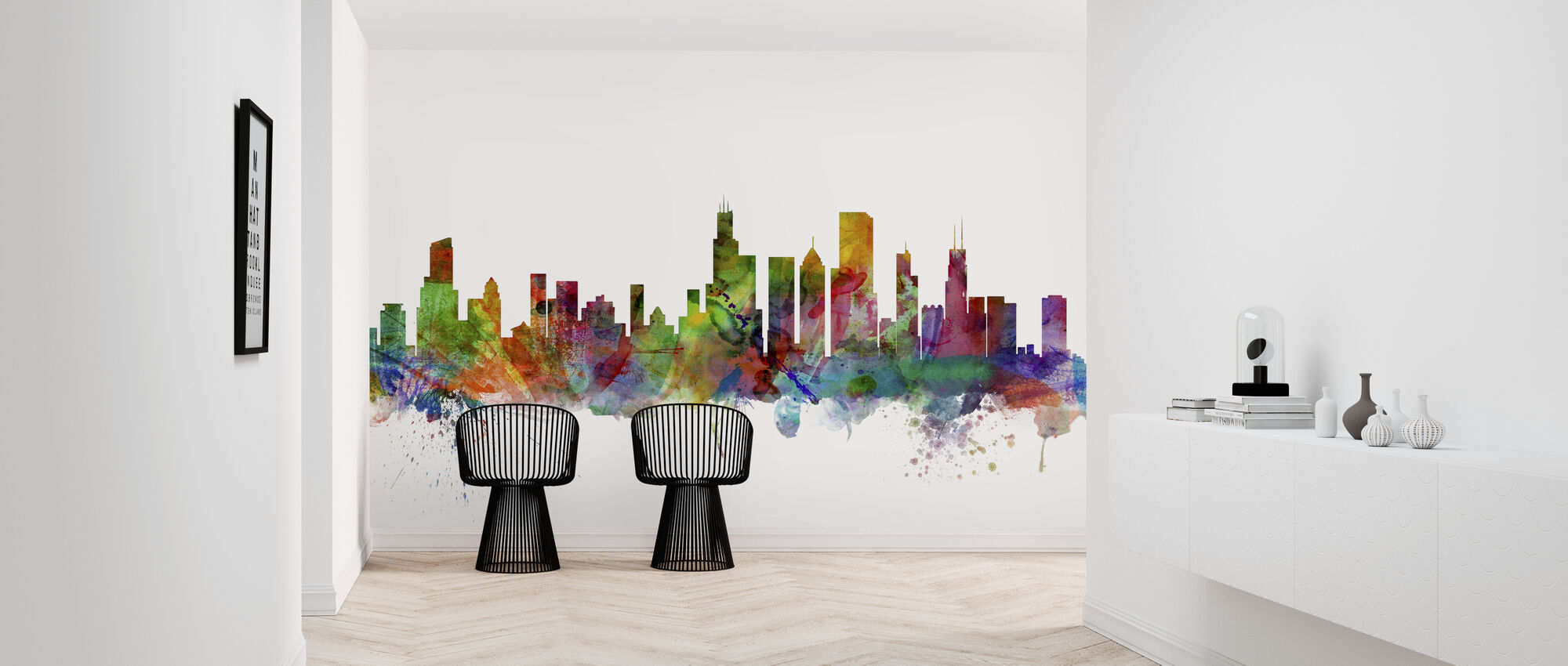 Chicago Skyline - Wallpaper - Hallway