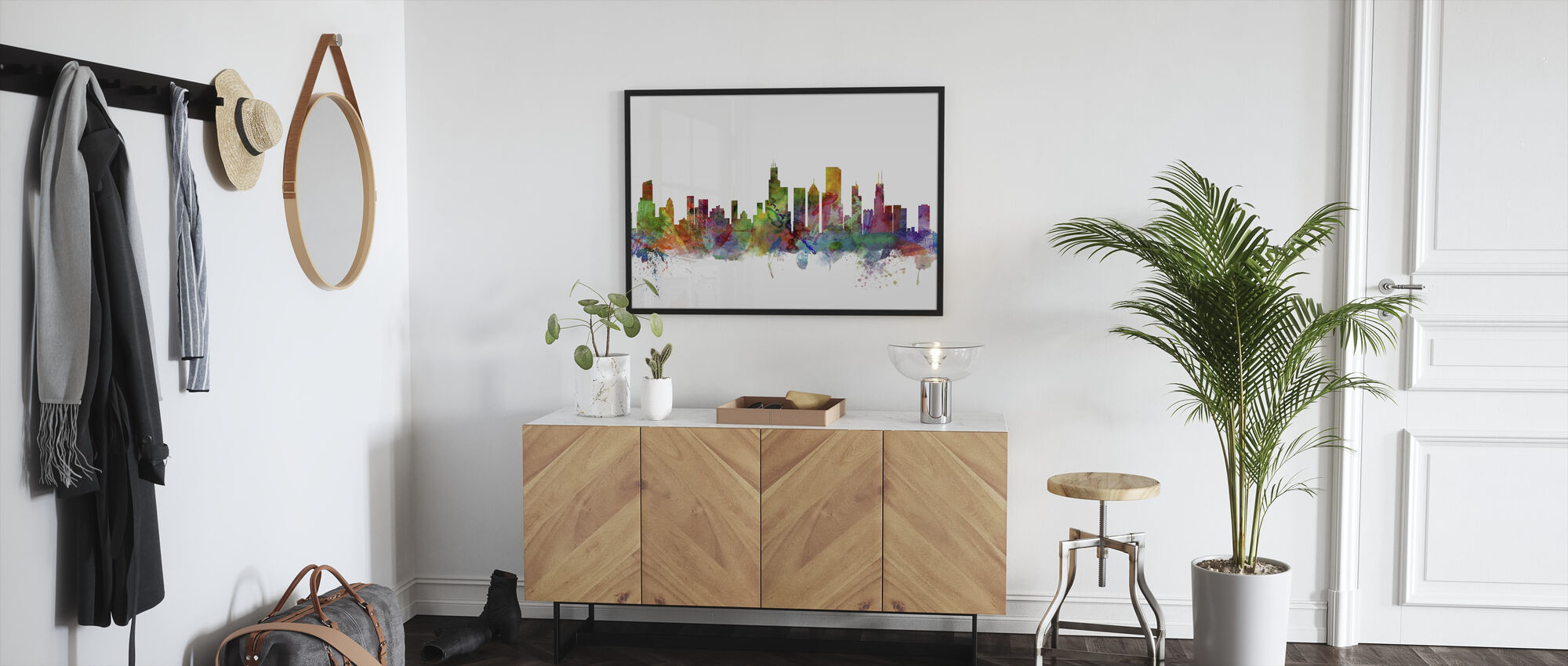 Chicago Skyline - Kehystetty kuva - Aula