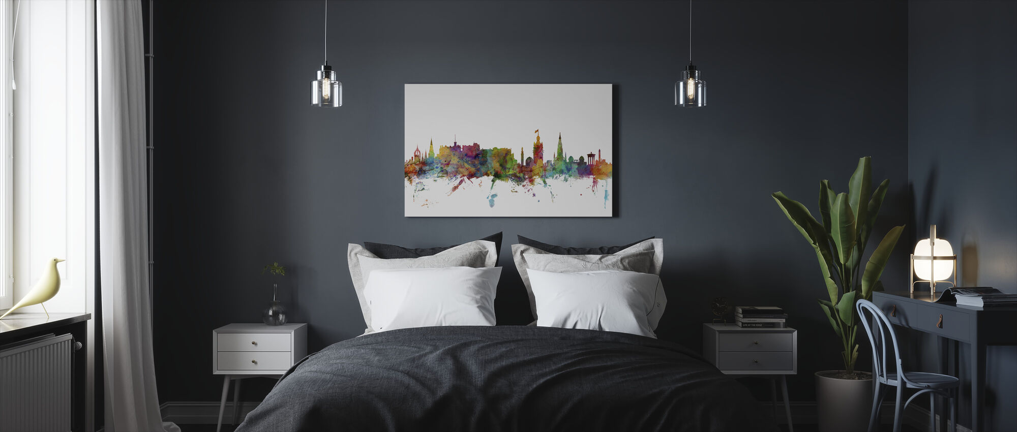 Edinburgh Skyline - Canvas print - Bedroom