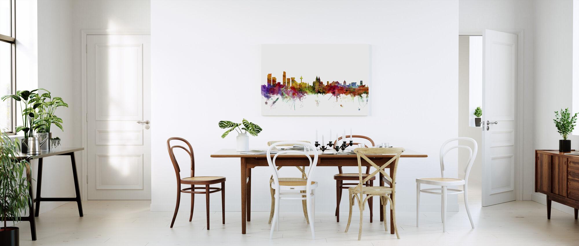 Liverpool Skyline - Canvas print - Kitchen