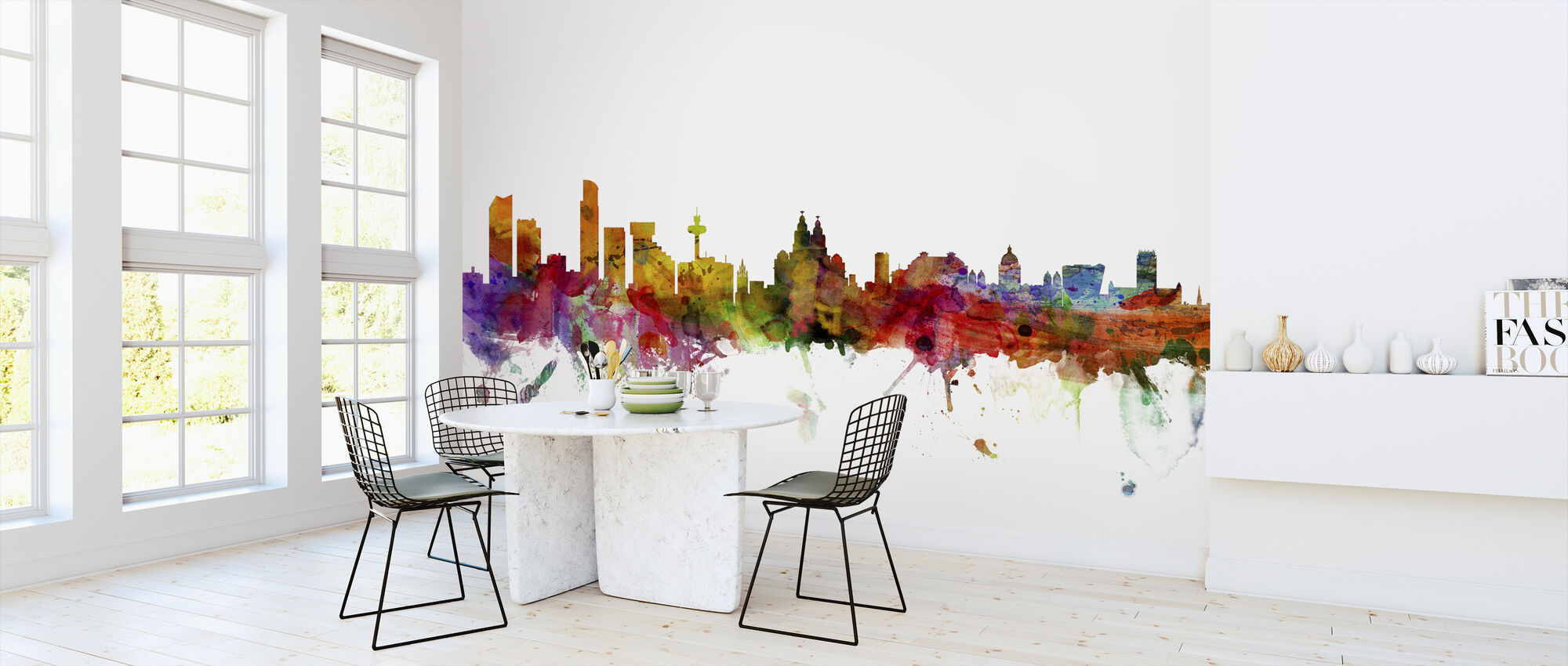 Liverpool Skyline - Wallpaper - Kitchen