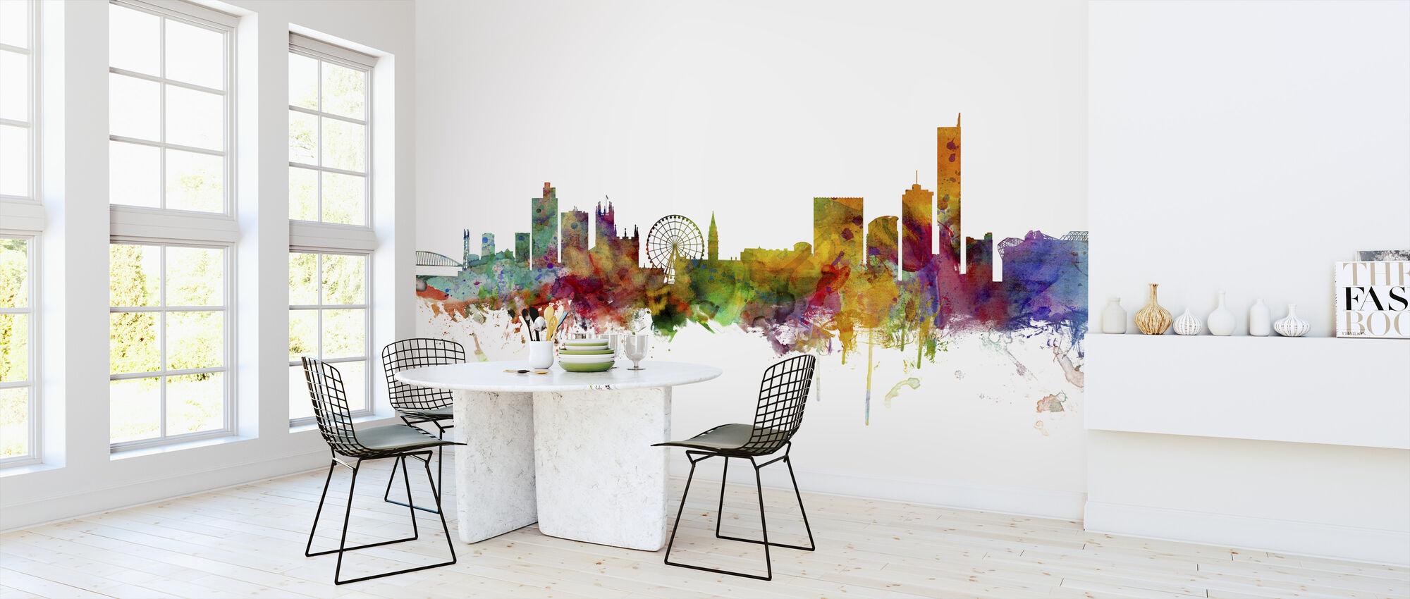 Manchester Skyline - Wallpaper - Kitchen
