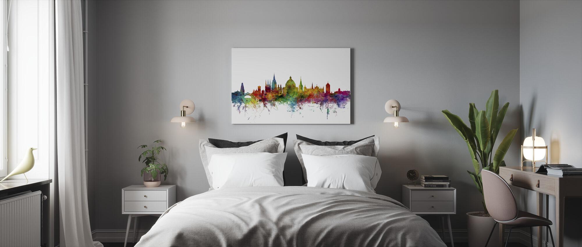Oxford Skyline - Canvas print - Bedroom