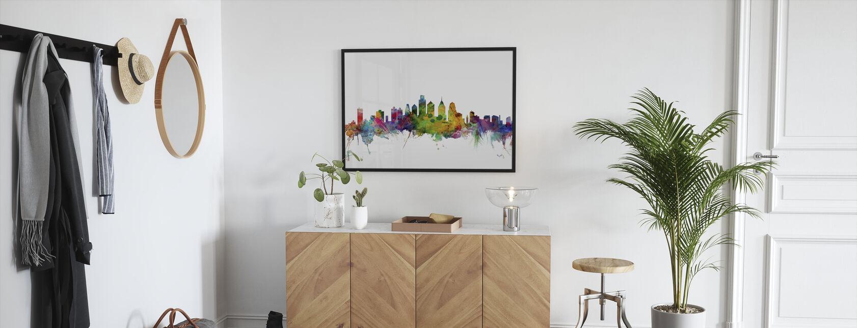 Philadelphia Skyline - Framed print - Hallway