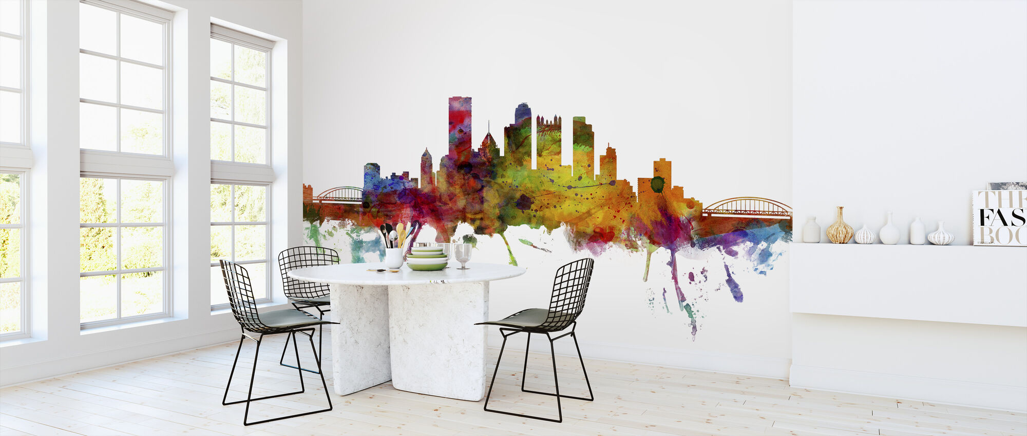 Pittsburgh Skyline - Wallpaper - Kitchen