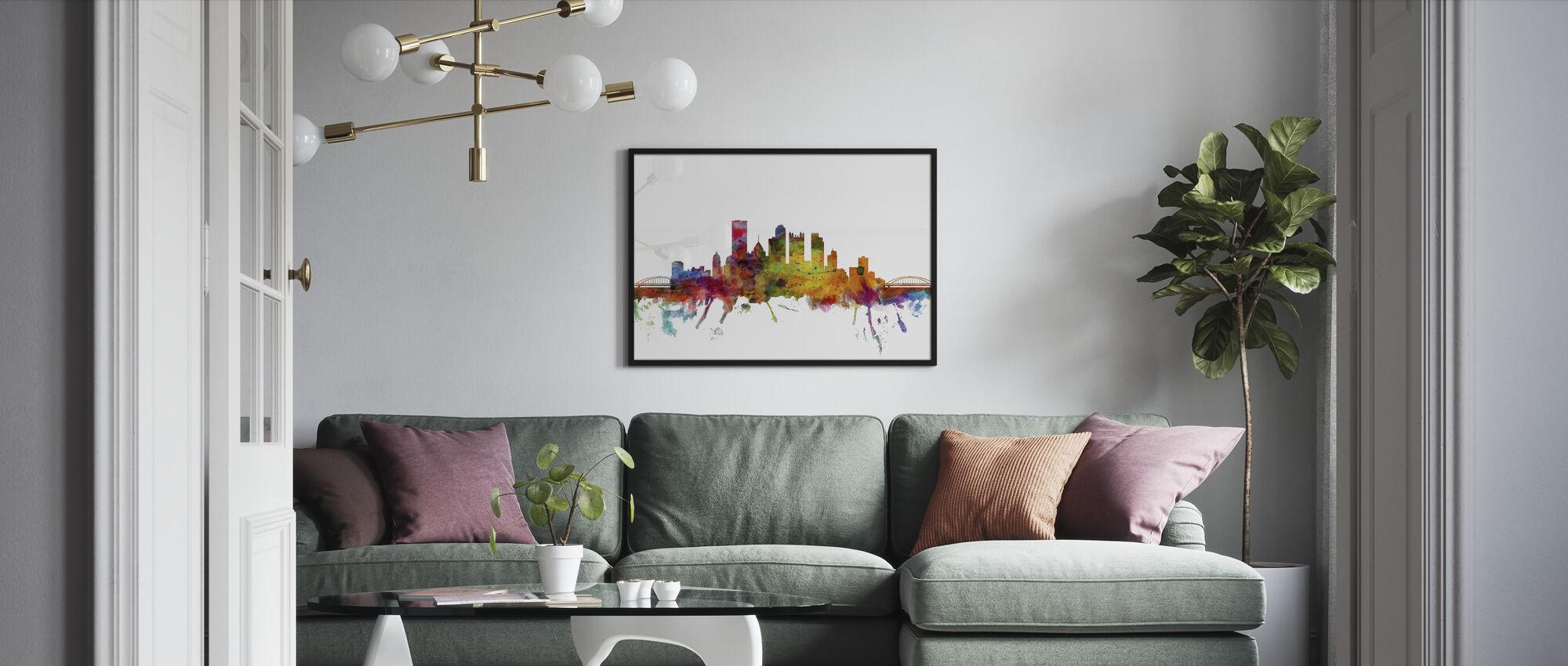 Pittsburgh Skyline - Framed print - Living Room