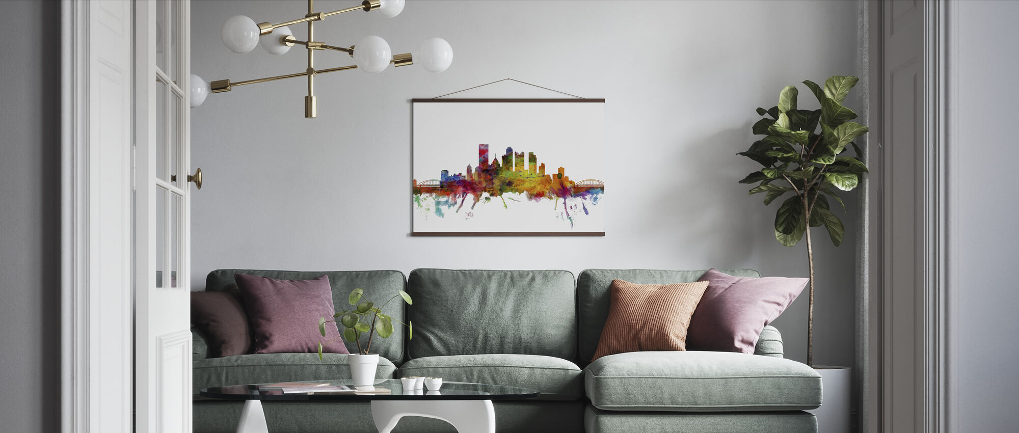 Pittsburgh Skyline - Poster - Living Room
