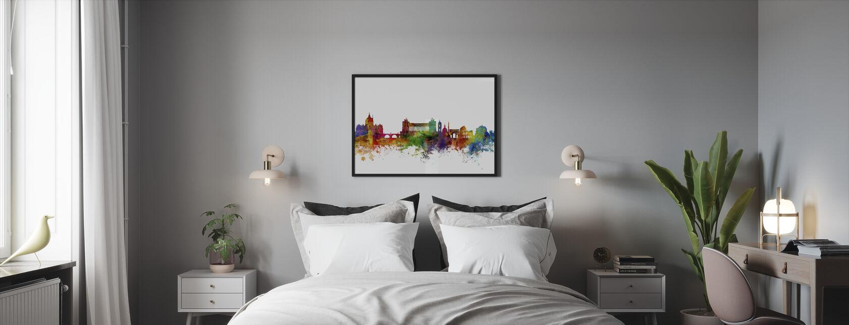 Rome Skyline - Framed print - Bedroom