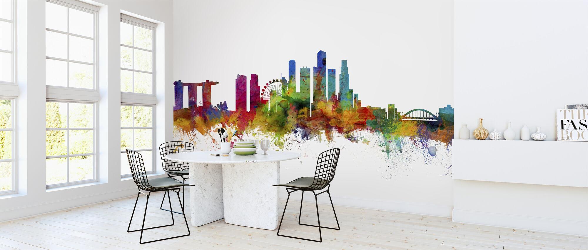 Singapore Skyline - Wallpaper - Kitchen