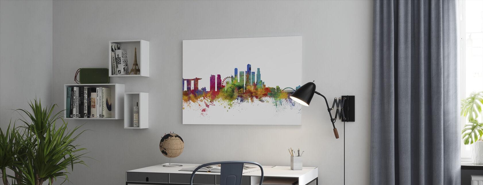 Singapore Skyline - Canvas print - Office