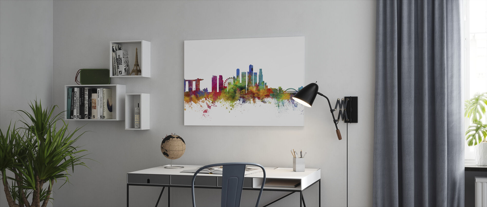 Singapore Skyline - Canvas print - Office