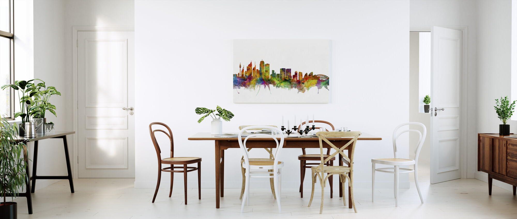Sydney Skyline - Billede på lærred - Køkken