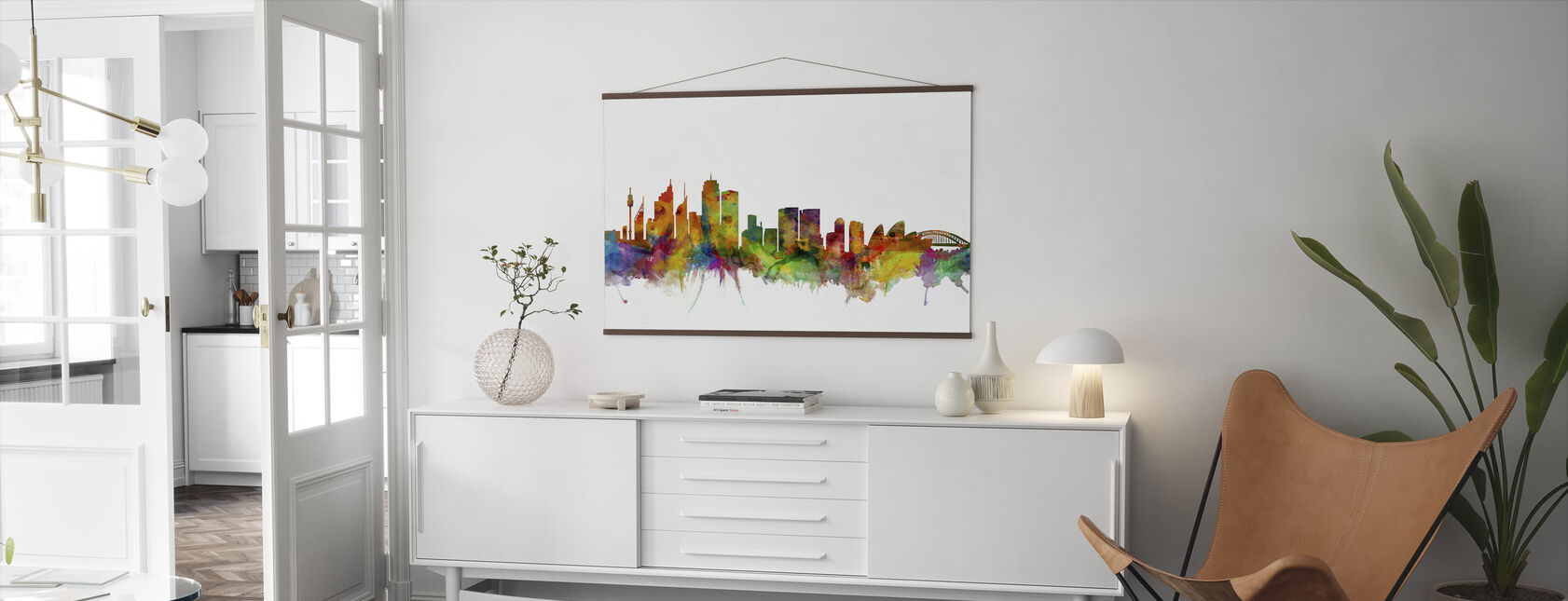 Sydney Skyline - Poster - Living Room