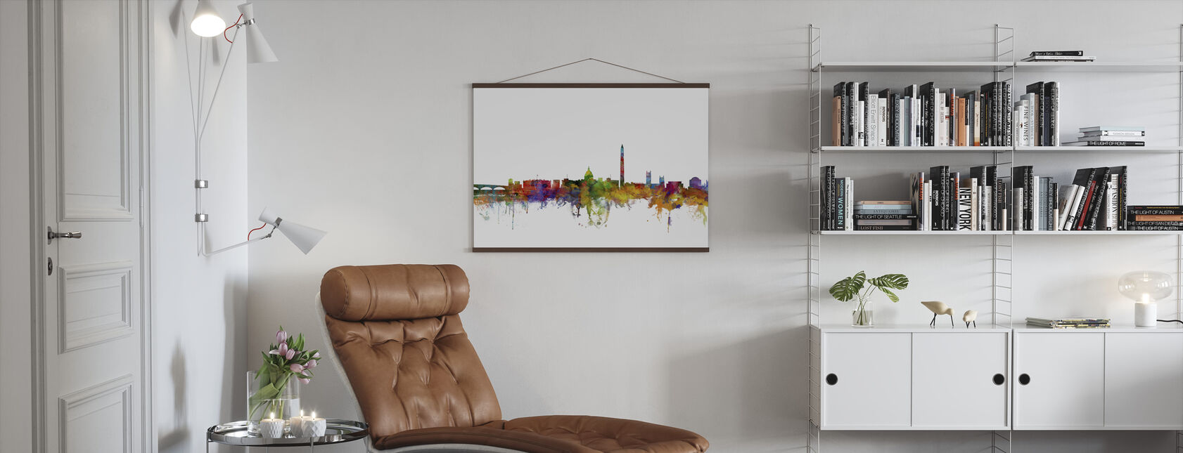 Washington DC Skyline - Poster - Woonkamer