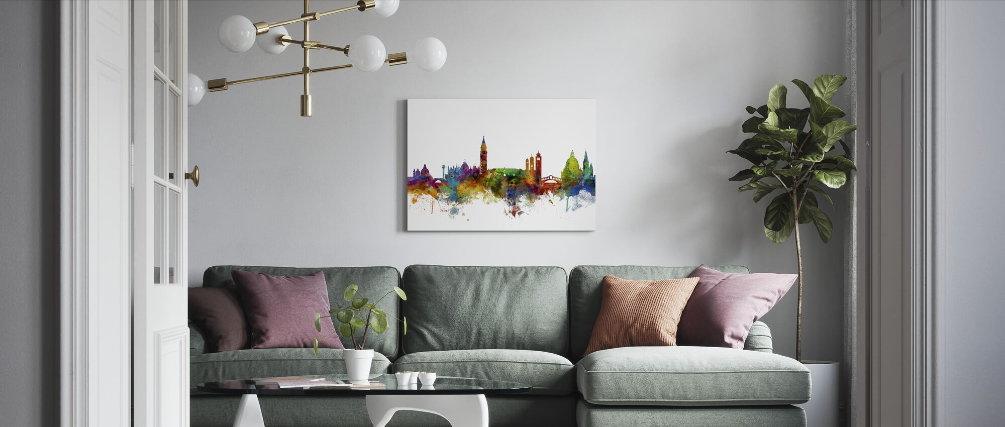 Venice Skyline - Canvas print - Living Room