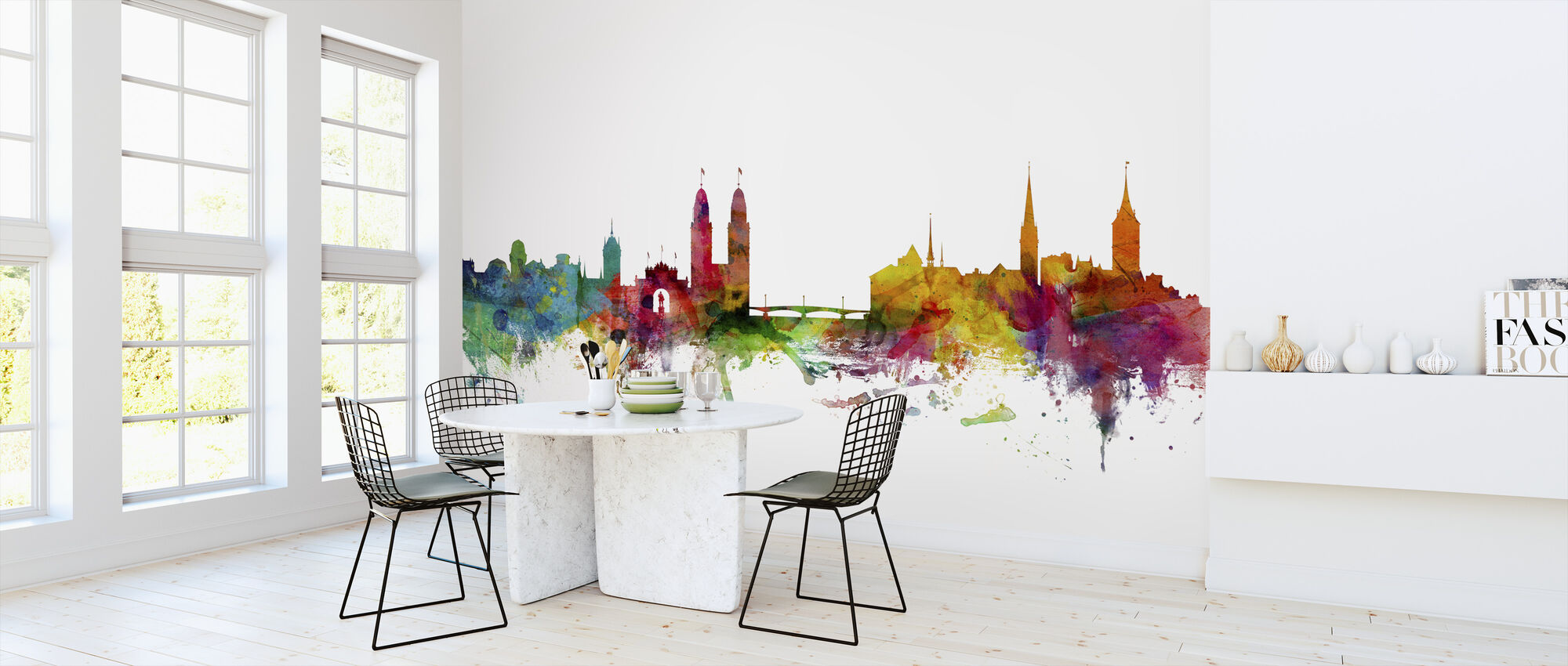 Zurich Skyline - Wallpaper - Kitchen