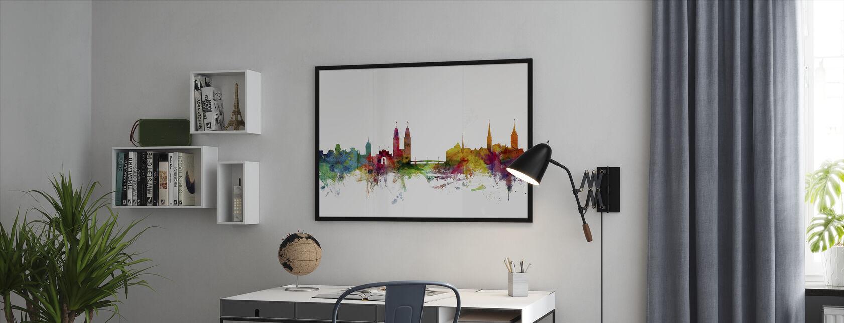 Zurich Skyline - Framed print - Office