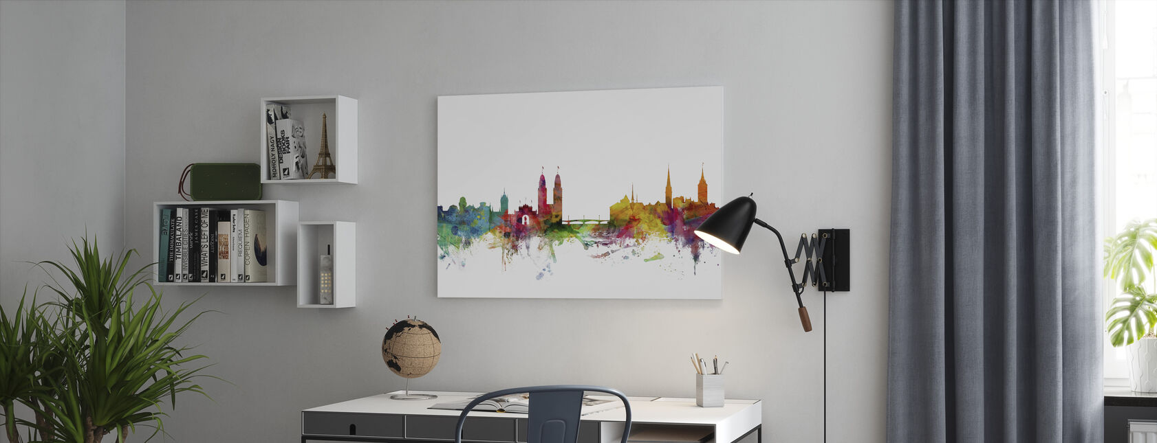 Zurich Skyline - Canvas print - Office