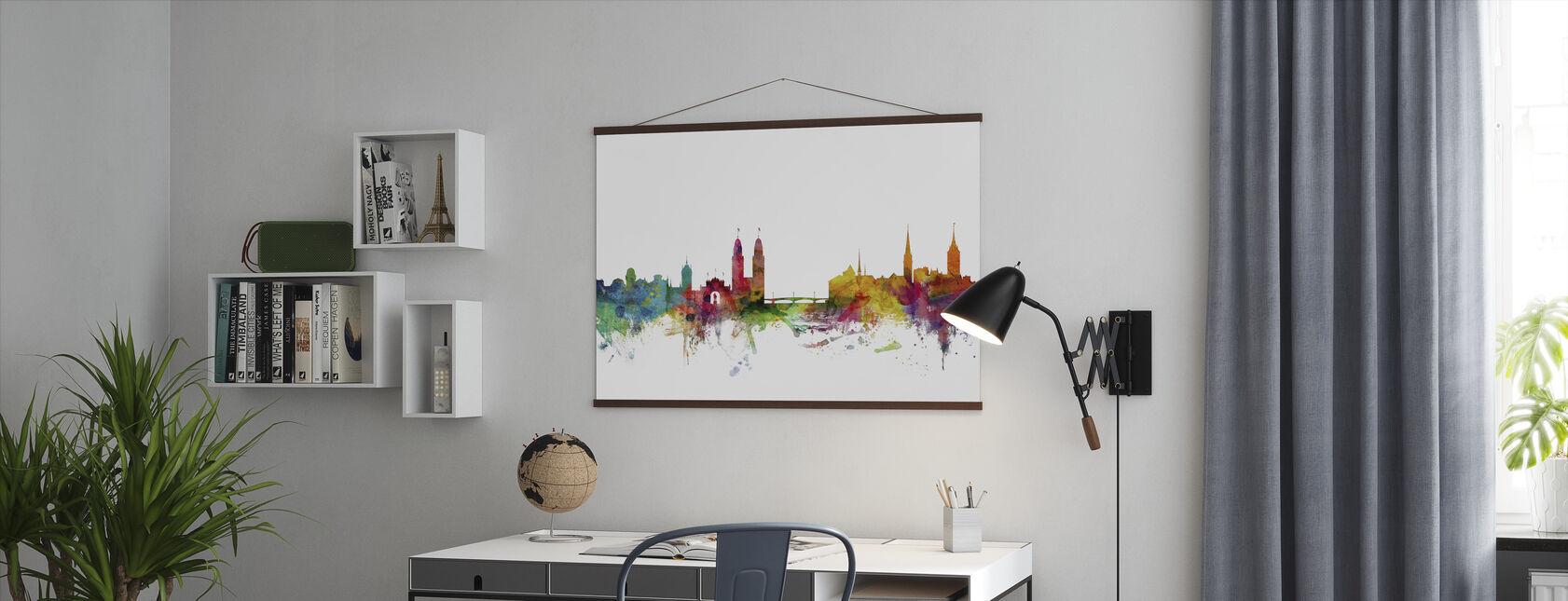 Zurich Skyline - Poster - Office