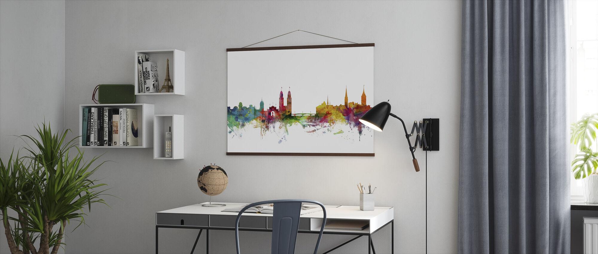 Skyline van Zürich - Poster - Kantoor