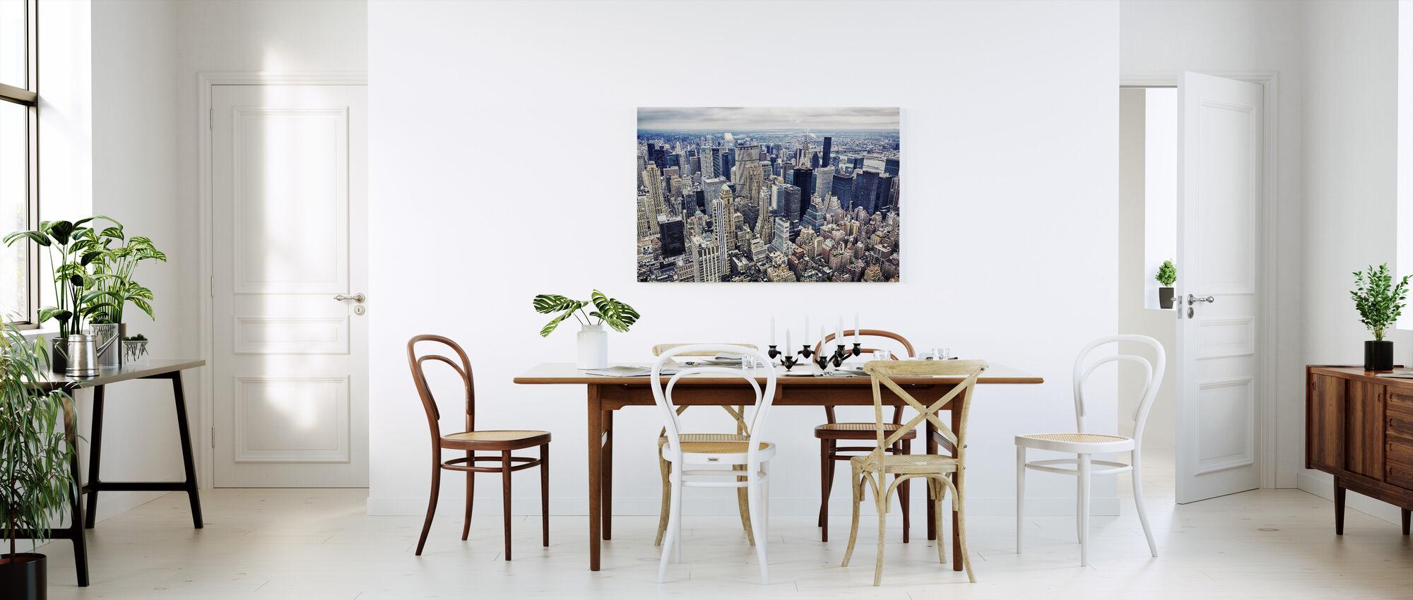 Ilmakuva Manhattanista - Canvastaulu - Keittiö