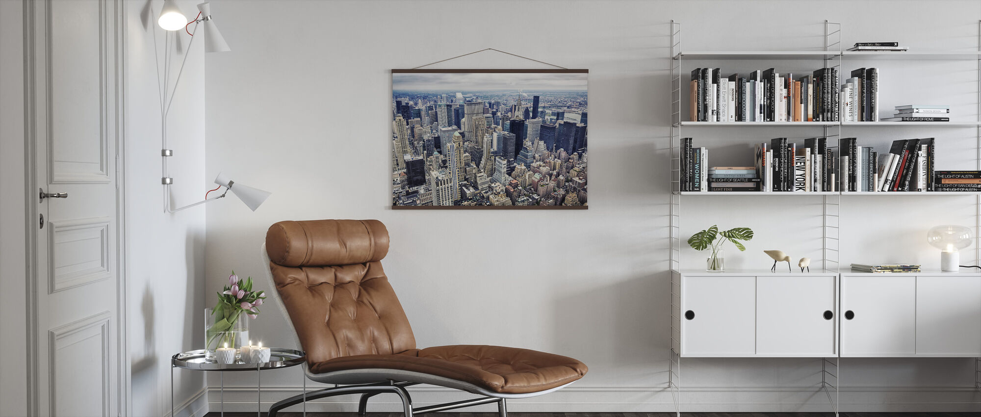 Aerial View of Manhattan - Poster - Living Room