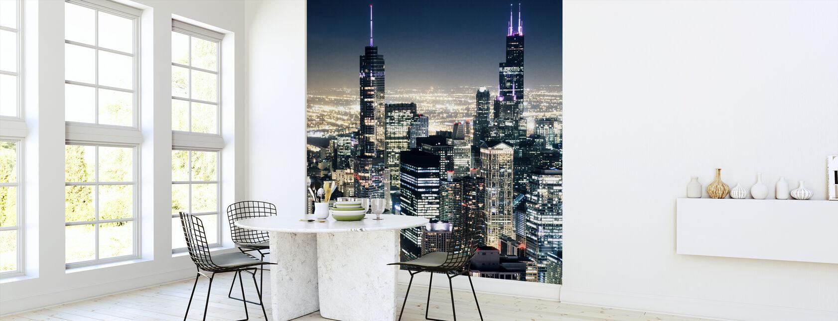 Chicago Nightlights - Wallpaper - Kitchen