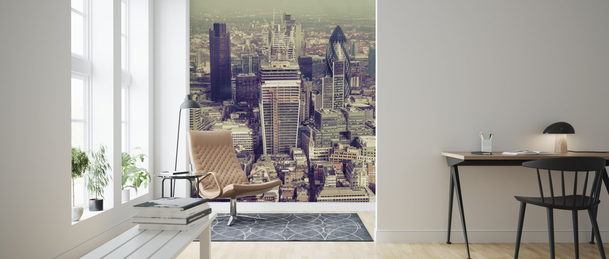 View from the Shard, London - Wallpaper - Living Room
