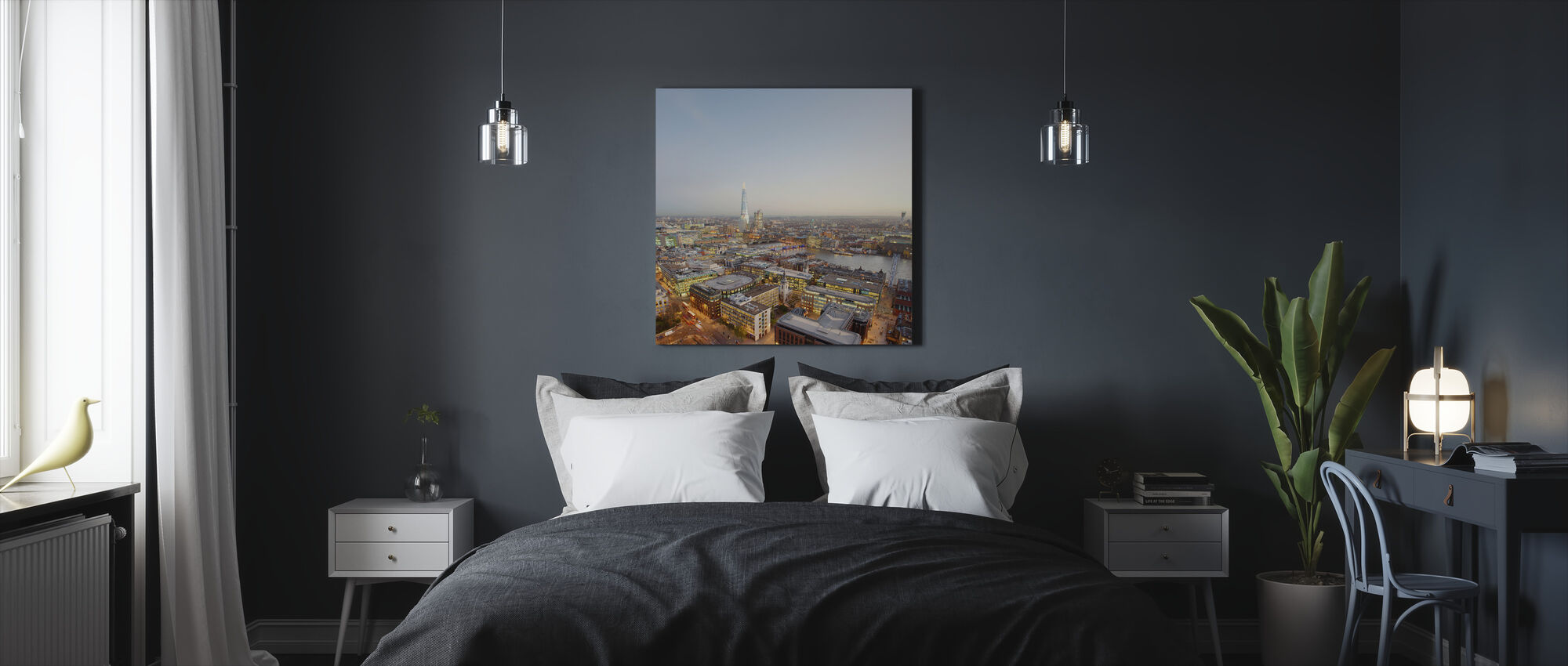 London and the Shard - Canvas print - Bedroom