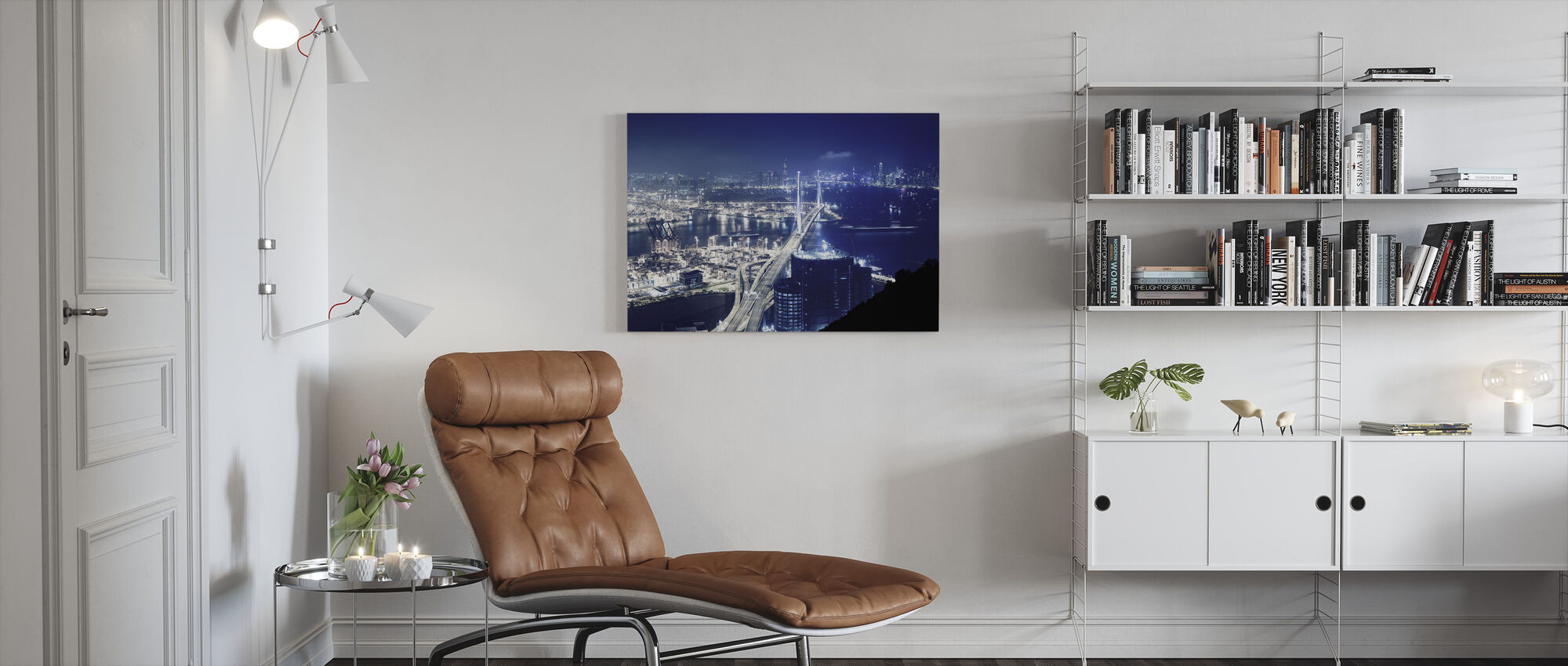 Blueberry Nights, Hong Kong - Canvas print - Living Room