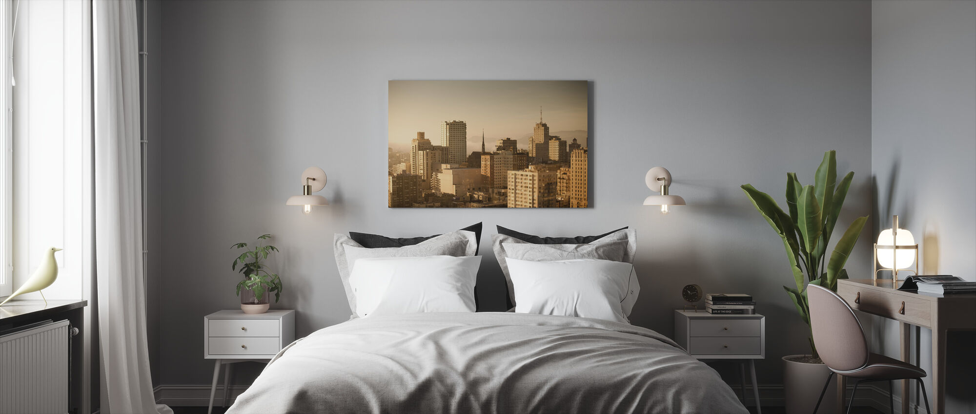 Sprankelende San Francisco - Canvas print - Slaapkamer