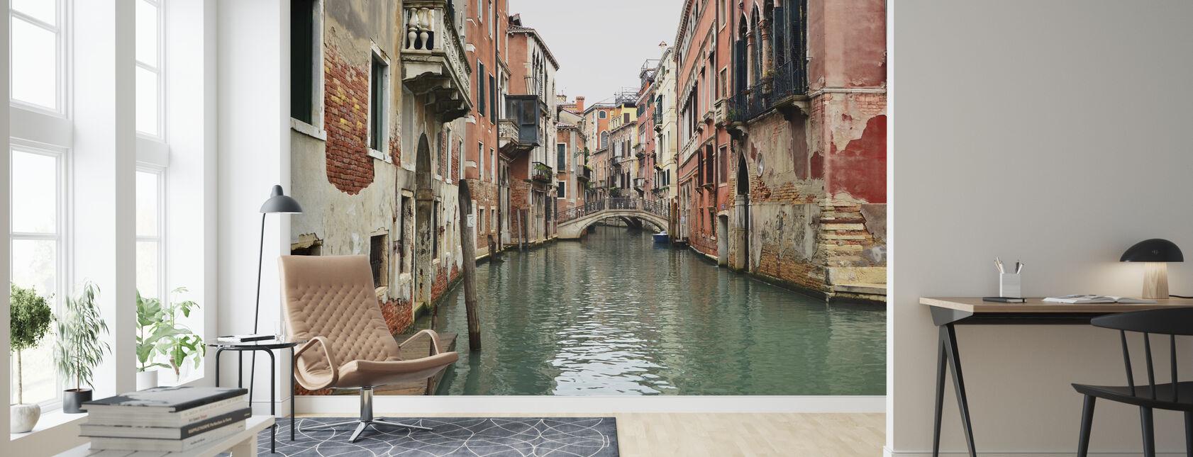 Mursten og vandgyder i Venedig - Tapet - Stue