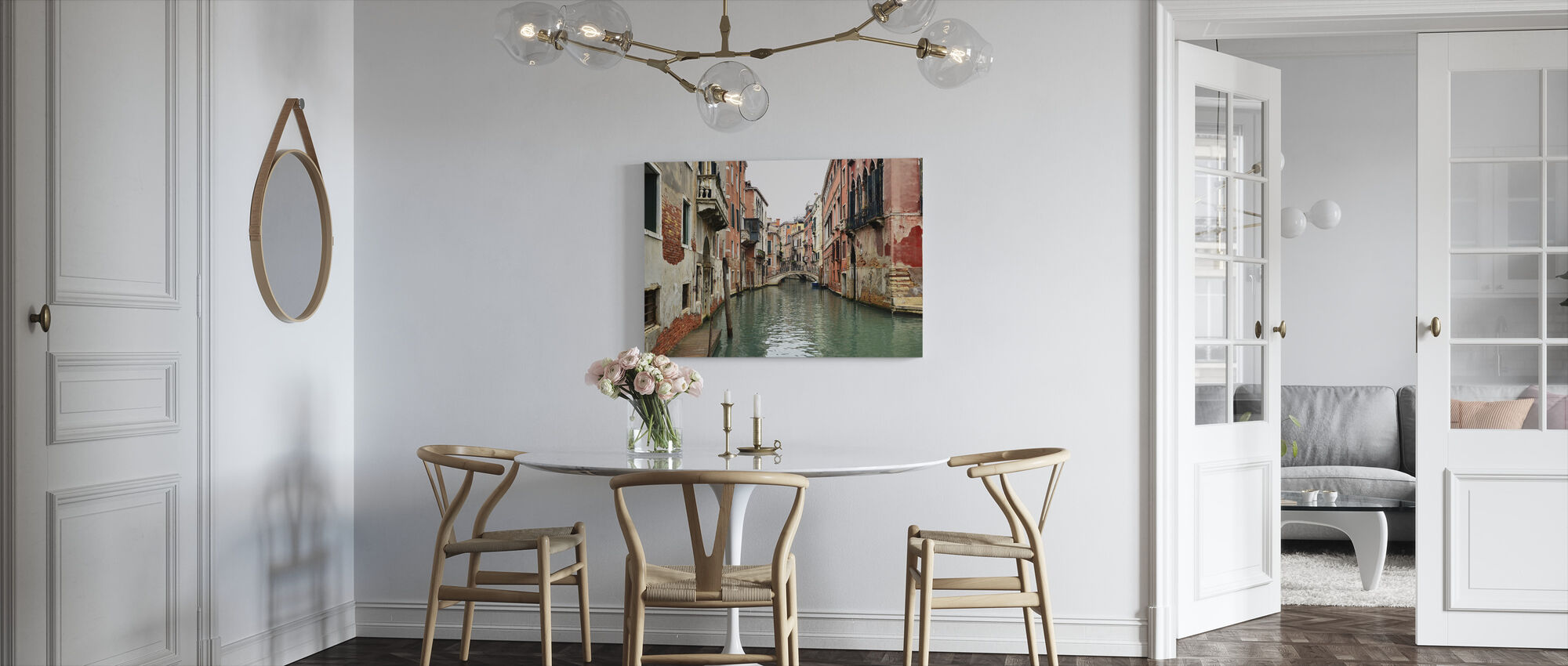 Bricks and Water Alleys in Venice - Canvas print - Kitchen