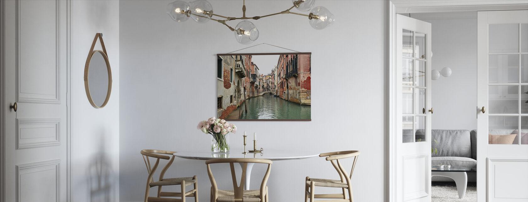 Bakstenen en watersteegjes in Venetië - Poster - Keuken