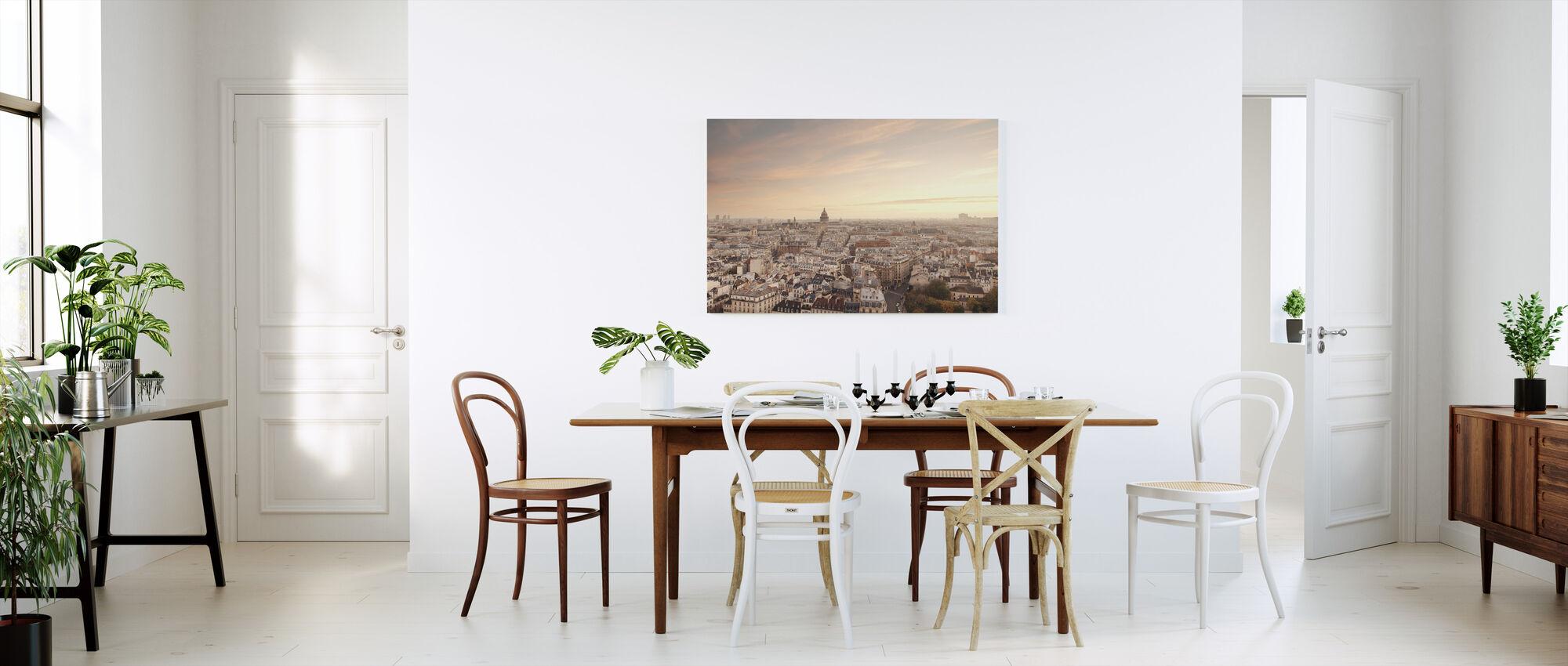 Sunset over Paris - Canvas print - Kitchen