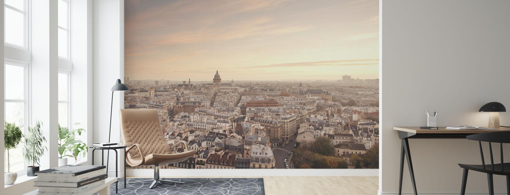 Sunset over Paris - Wallpaper - Living Room