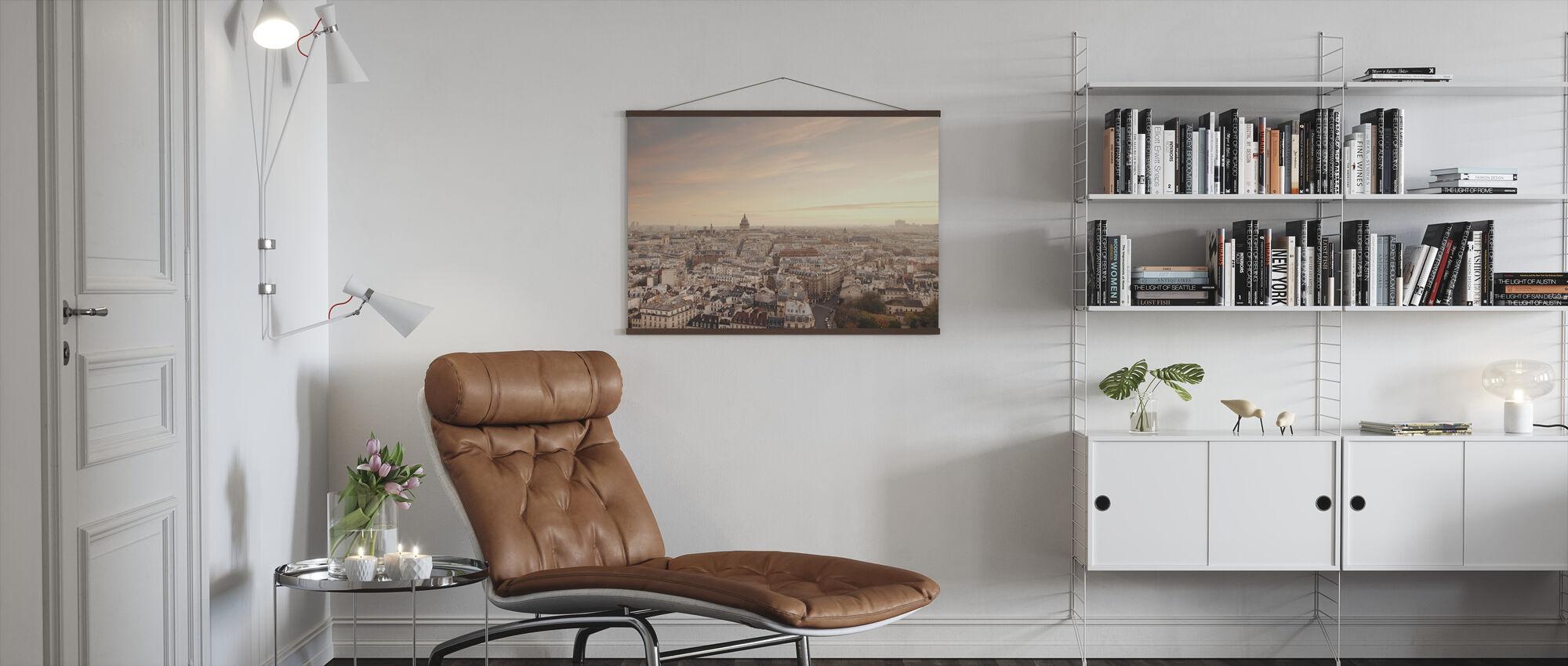 Sonnenuntergang über Paris - Poster - Wohnzimmer